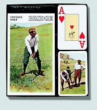 Bridžová sada Vintage Golf (Velký index)