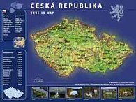 Mapa Česká republika TRUE 3D