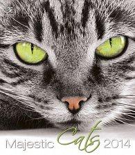 Kalendář 2014 - Majestic Cats - nástěnný