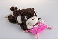 Plyšová opička s polštářkem