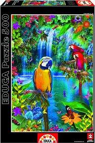 Puzzle Papoušci v džungli 500 dílků