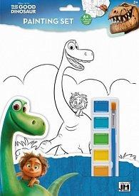Hodný dinosaurus - Omalovánkový set A4