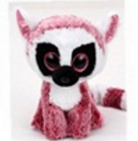 Plyš očka střední růžový lemur