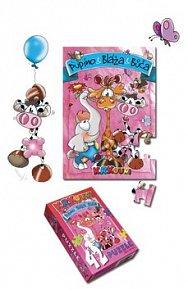 Krkouní puzzle - růžové