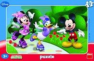 Minnie a přátelé - rámové puzzle 15 dílk
