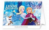 Kalendář stolní 2016 - W. D. Ledové království,  23,1 x 14,5 cm