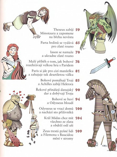 Náhled Staré řecké báje a pověsti pro děti
