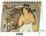 Kalendář 2014 - Alfons Mucha Praktik - stolní
