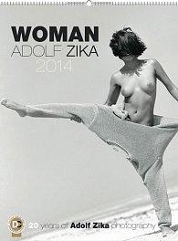 Kalendář 2014 - Woman Adolf Zika - nástěnný s prodlouženými zády