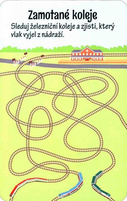Náhled 100 úkolů pro malé děti (nejen) do vlaku - Krabička + fix + 50 karet