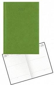 Diář koženkový 2012 - Print denní B6 - zelená