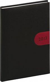 Diář 2013 - Tosca - Týdenní A5, černočervená, 15 x 21 cm