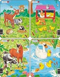 Puzzle MINI - Mláďátka roztomilá/10 dílků (4 druhy)