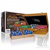 Poker: Premium 300 x 14g set v luxusním dřevěném kufříku