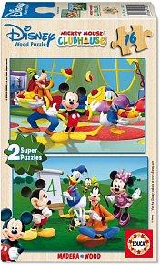 Puzzle Mickey Mouse, 2x16 dílků