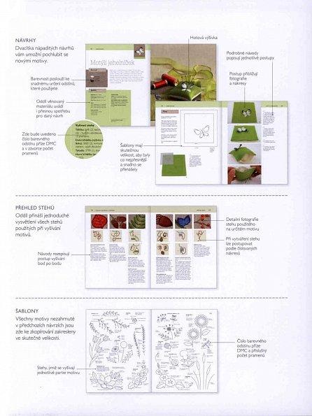 Náhled Vyšíváme květiny - Téměř 50 okouzlujících vzorů a navíc 20 návrhů na jejich skvělé uplatnění