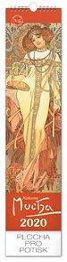 Kalendář nástěnný 2020 - Alfons Mucha, 12 × 48 cm