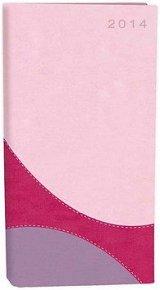 Diář A6 Fashion týdenní růžovo fialový 2014