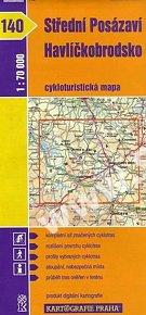 1: 70T(140)-Střední Posázaví, Havlíčkobrodsko (cykloturistická mapa)
