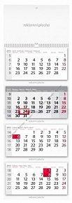 Kalendář 2015 - Čtyřměsíční šedý nástěnn