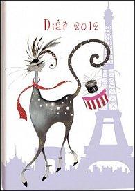 Diář B6 Lyra denní Paris 2012
