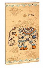 Diář A7 Elephant týdenní 2017