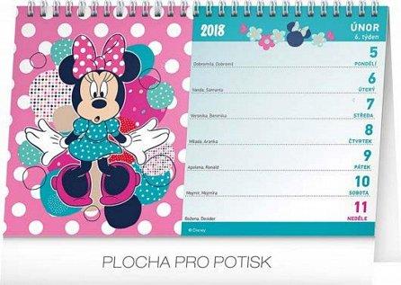 Náhled Kalendář stolní 2018 - Minnie, 23,1 x 14,5 cm