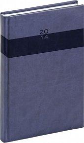 Diář 2014 - Aprint - Denní A5, středně modrá (ČES, SLO, ANG, NĚM)