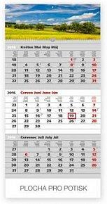 Krajina šedý 3měsíční - nástěnný kalendář 2016