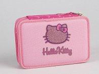 Penál Hello Kitty růžový patrový s překlápěním