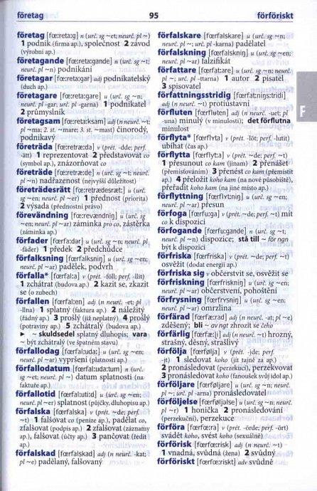 Náhled Švédsko-český, česko-švédský šikovný slovník