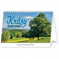 Kalendář stolní 2016 - Krásy Čech a Moravy,  23,1 x 14,5 cm