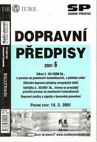 Dopravní předpisy evropských států Právní stav k 19.2.2001