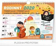 Kalendář nástěnný 2020 - Týdenní rodinný plánovací s háčkem, 30 × 21 cm