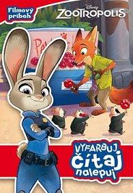 Zootropolis Filmový príbeh Vyfarbuj, čítaj, nalepuj