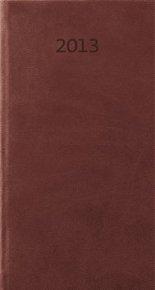 Diář koženkový 2012 - Print týdenní kapesní - anglická červená