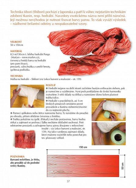 Náhled Šátky a šály malované na hedvábí, háčkované, pletené, aplikované