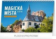 Kalendář stolní 2018 - Magická místa České republiky, 23,1 x 14,5 cm