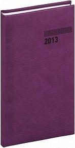 Diář 2013 - Tucson-Vivella - Kapesní, tmavě fialová, 9 x 15,5 cm