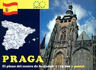 Praga El plano del centro de la ciudad 1:15 000 + postal