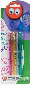 Gelové tužky s třpytkami 4 ks