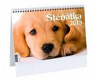 Štěňátka - stolní kalendář 2015