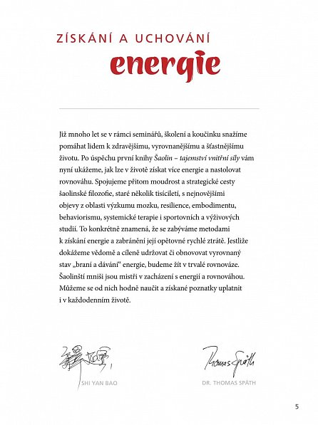 Náhled Šaolin. Osm kroků k získání energie a vnitřní rovnováhy