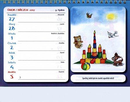 Náhled Kalendář pro malé školáky 2017 stolní