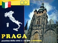 Praga piantina della cittá 1:15 000 + cartolina