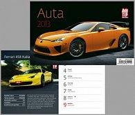 Auta - stolní kalendář 2013