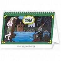 Kalendář stolní 2016 - Josef Lada - Vodník,  23,1 x 14,5 cm