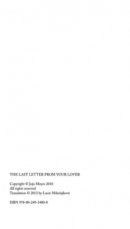 Náhled Poslední dopis od tvé lásky