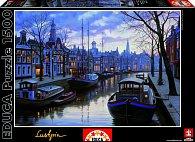 Puzzle Amsterdam v noci 1500 dílků