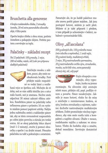 Náhled Deník na recepty